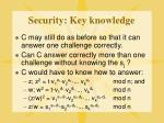security key knowledge