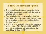 timed release encryption