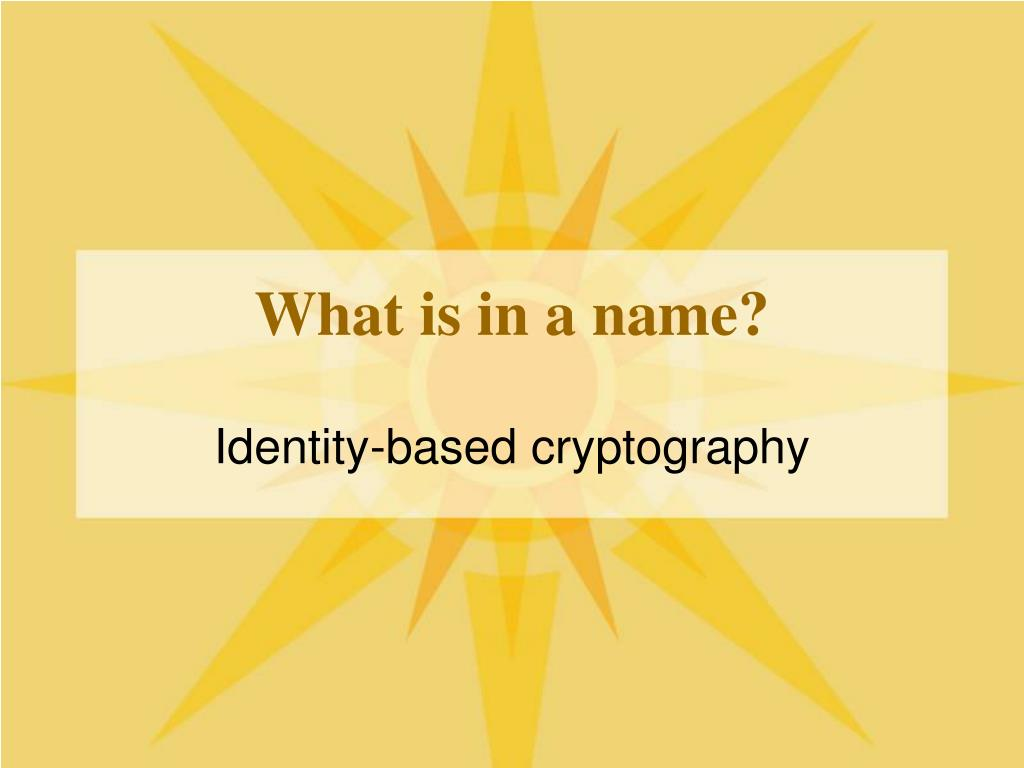 what is in a name l.