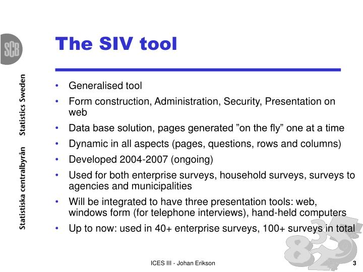 The siv tool