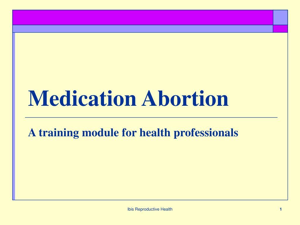 medication abortion l.