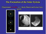 the formation of the solar system27