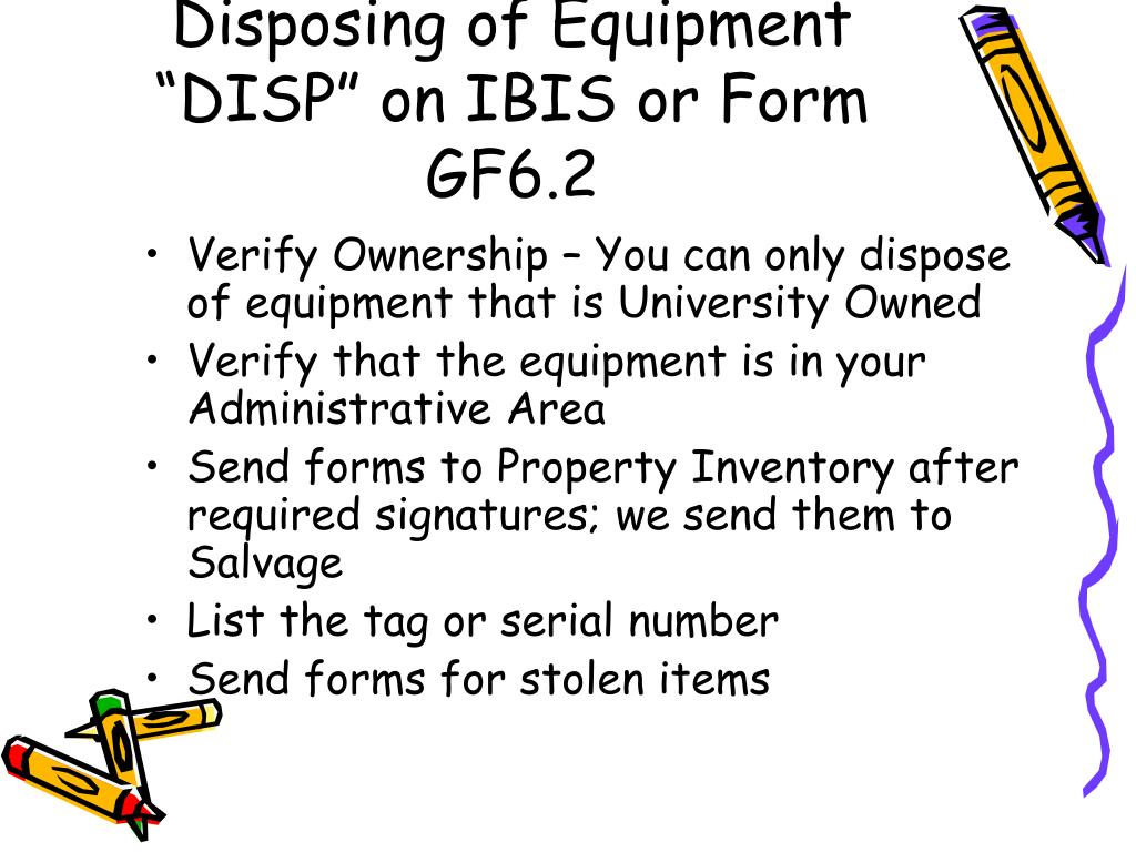 Disposing of Equipment