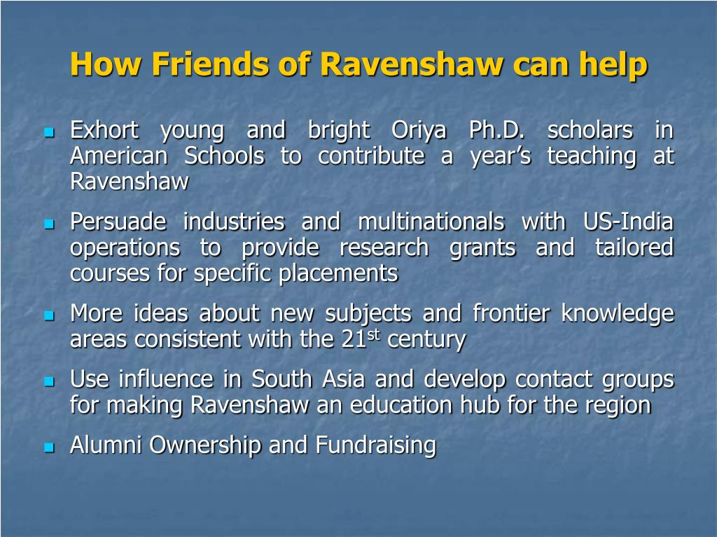 How Friends of Ravenshaw can help