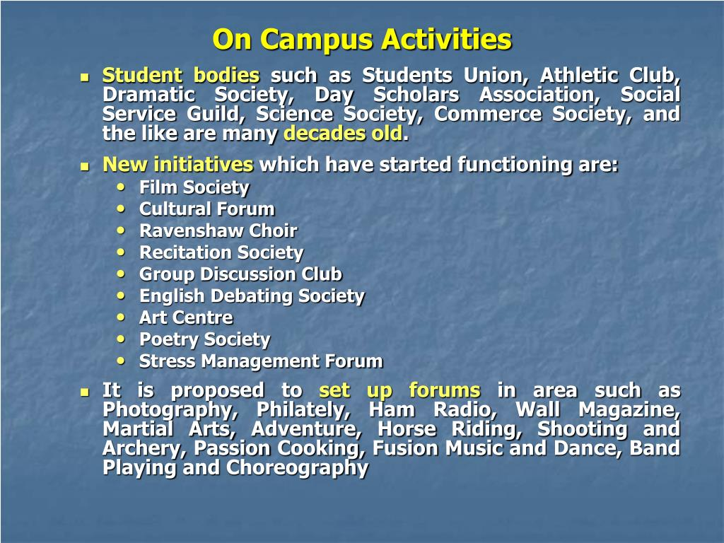 On Campus Activities