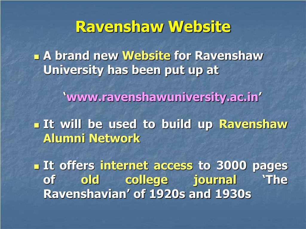 Ravenshaw Website