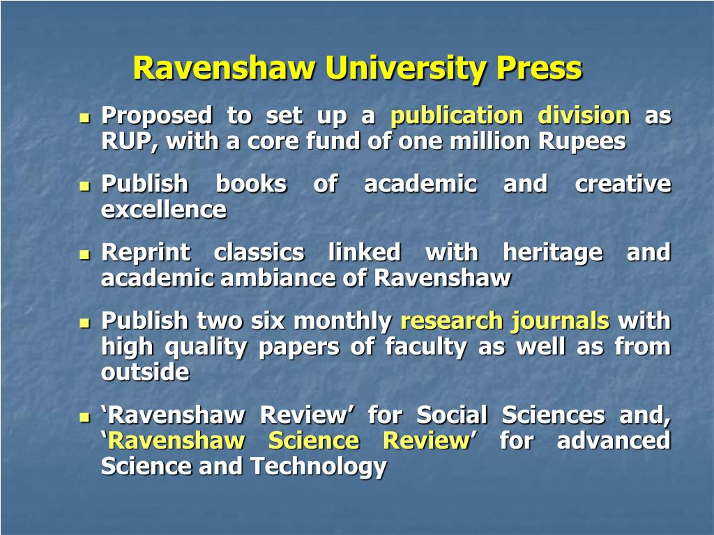 Ravenshaw University Press