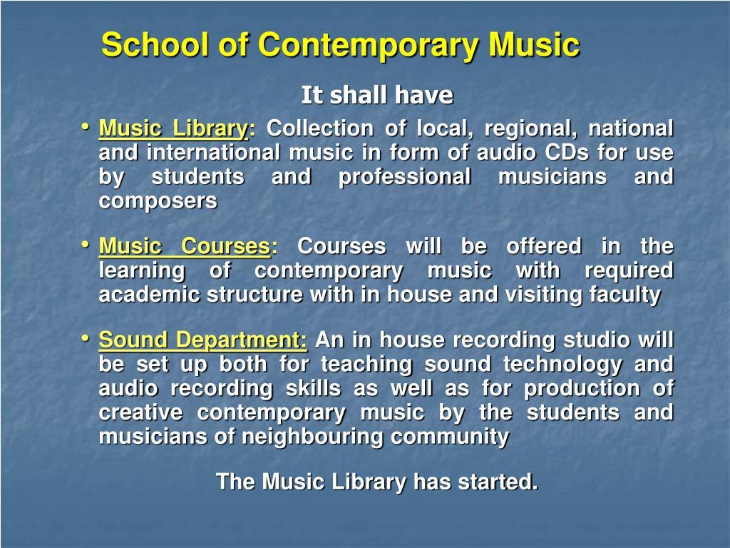 School of Contemporary Music