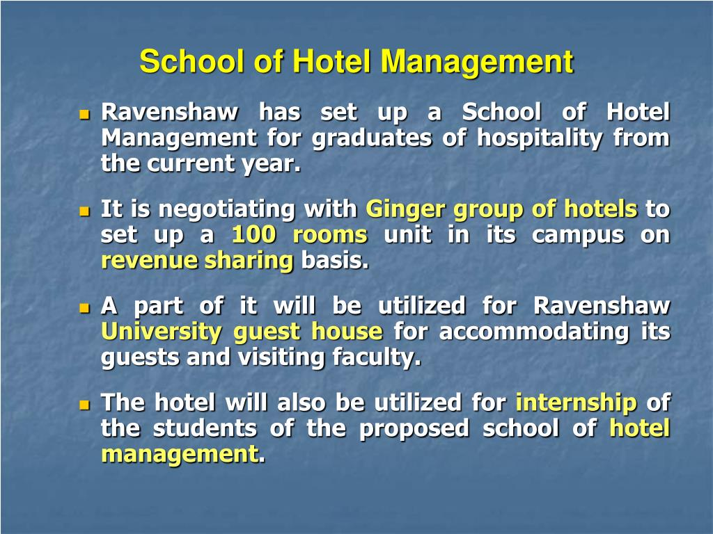 School of Hotel Management