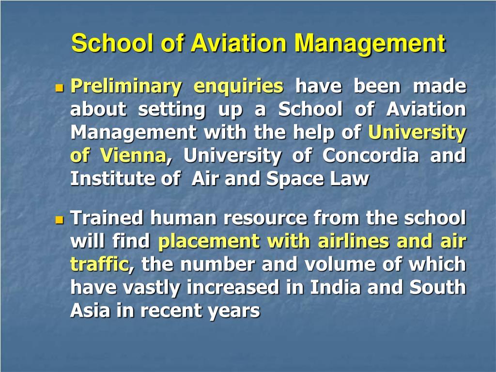 School of Aviation Management