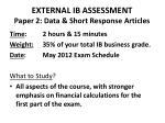 external ib assessment paper 2 data short response articles