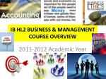 ib hl2 business management course overview