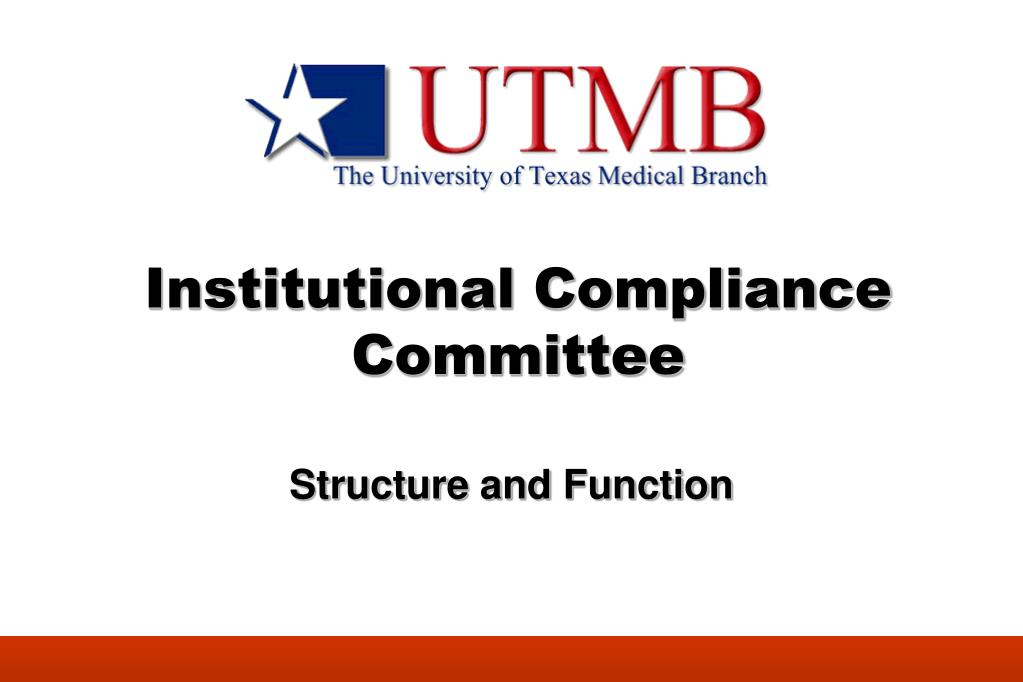institutional compliance committee l.