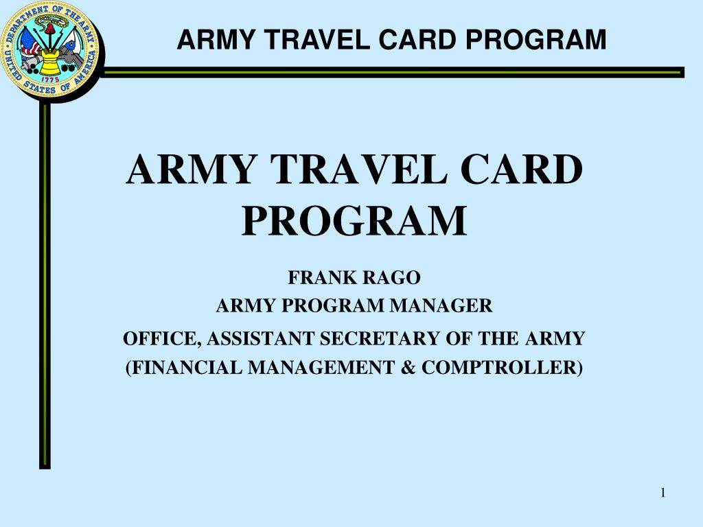 army travel card program l.