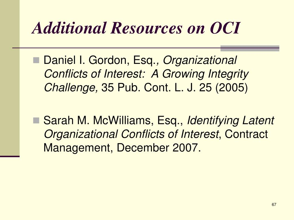 Additional Resources on OCI