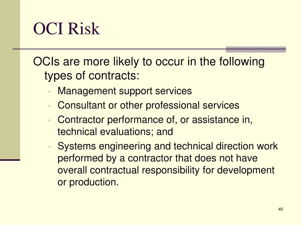 OCI Risk