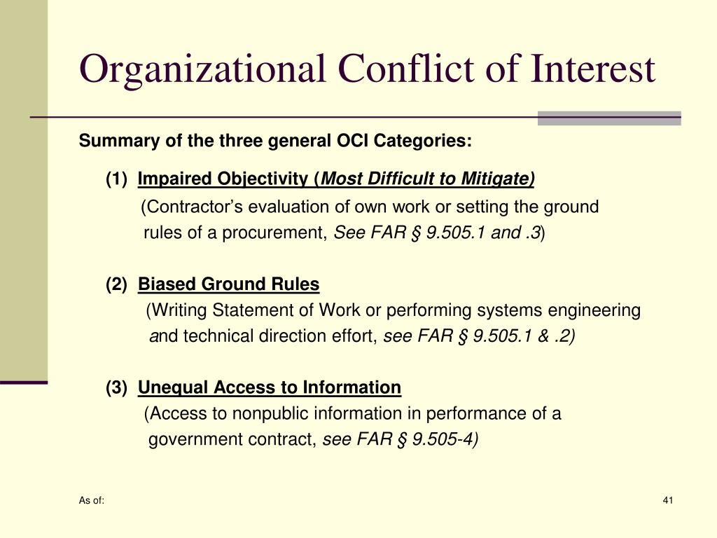 Organizational Conflict of Interest