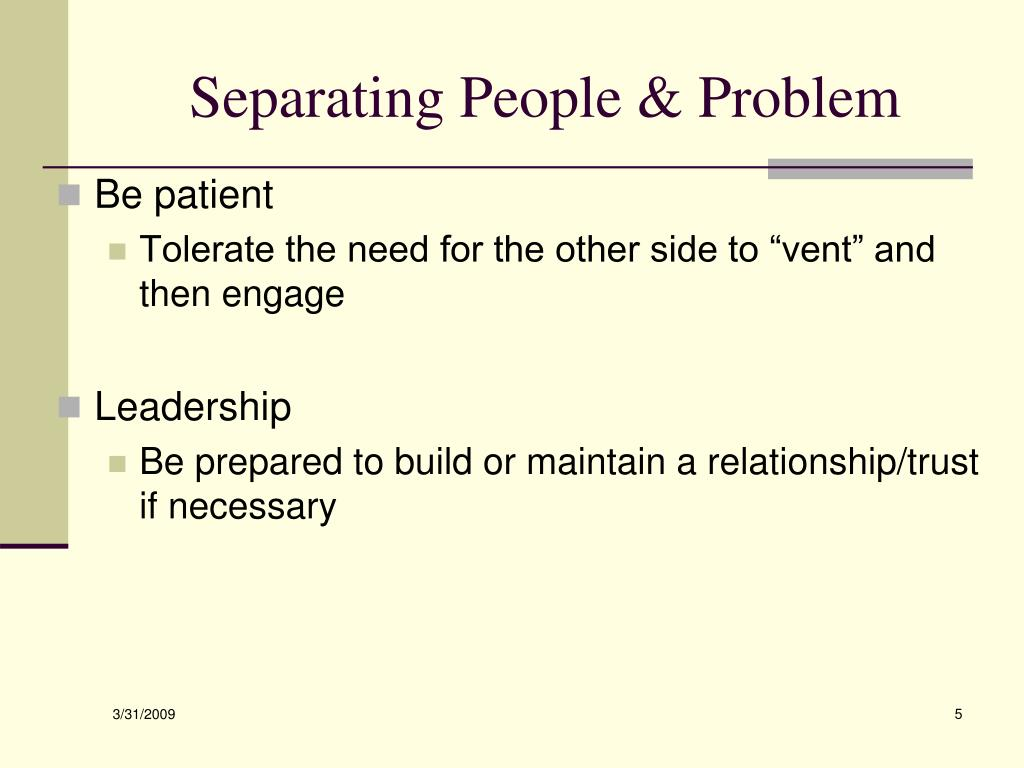Separating People & Problem