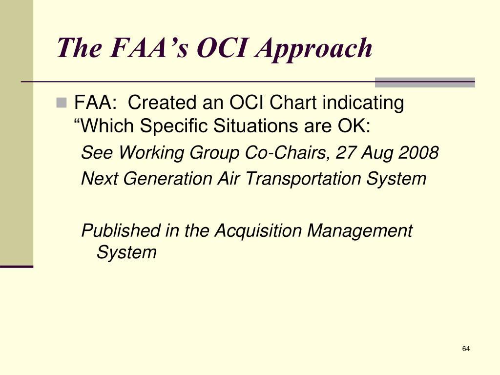 The FAA's OCI Approach