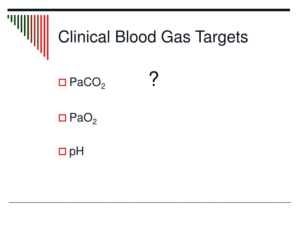 Clinical Blood Gas Targets