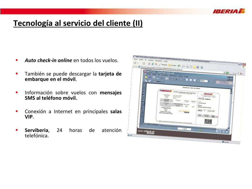 Tecnología al servicio del cliente (II)