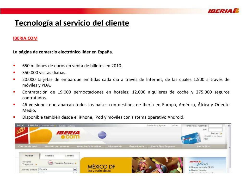 Tecnología al servicio del cliente