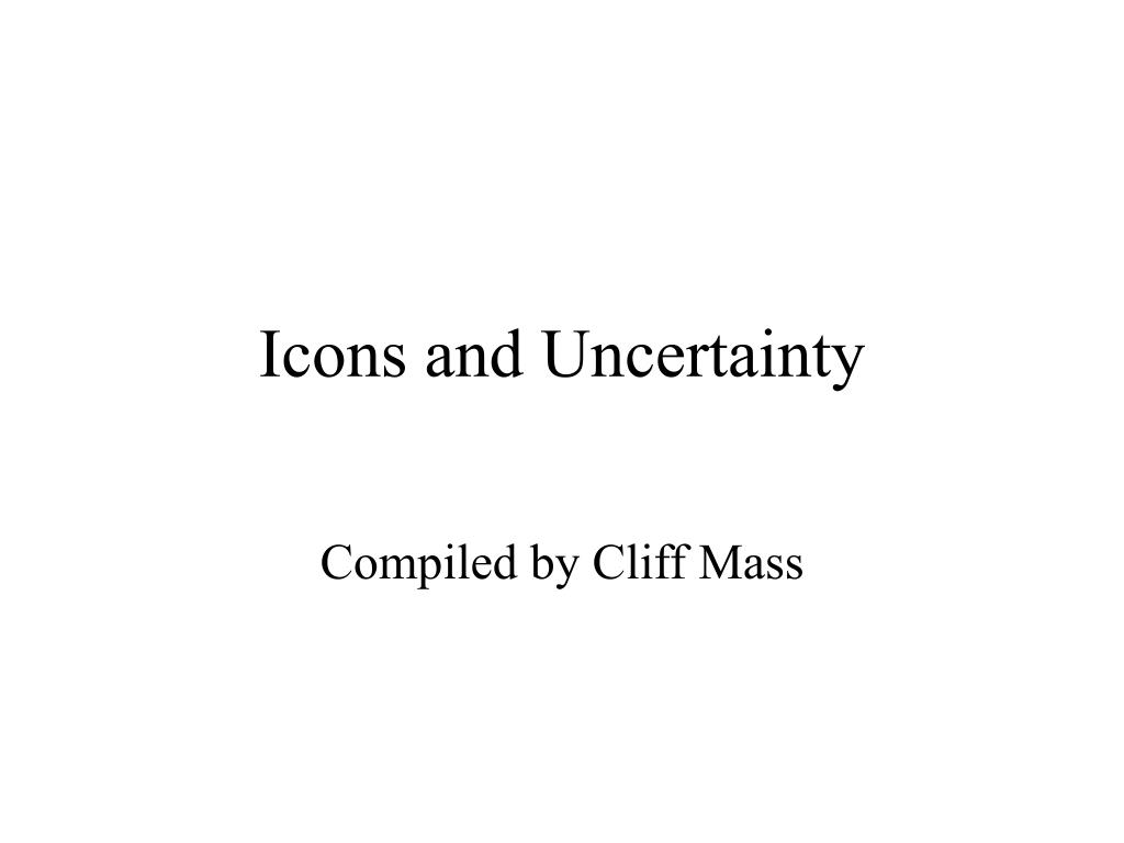 Icons and Uncertainty