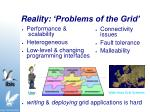 reality problems of the grid