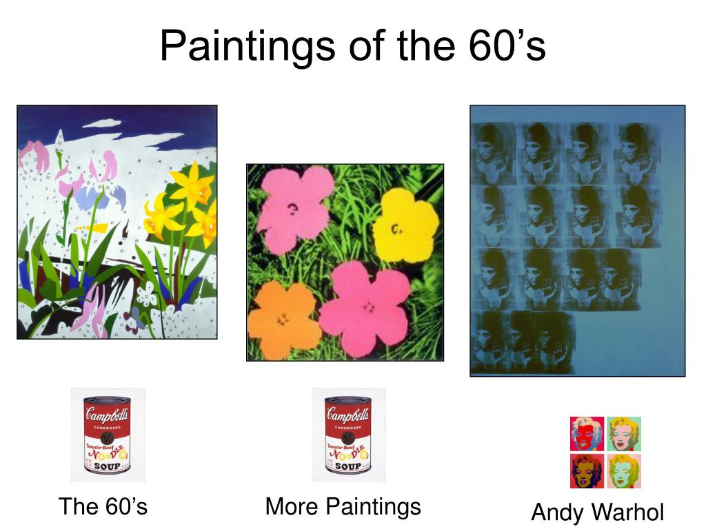 Paintings of the 60's