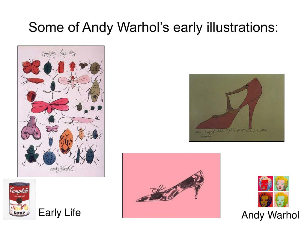 Some of Andy Warhol's early illustrations:
