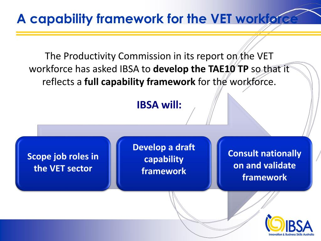 A capability framework for the VET workforce