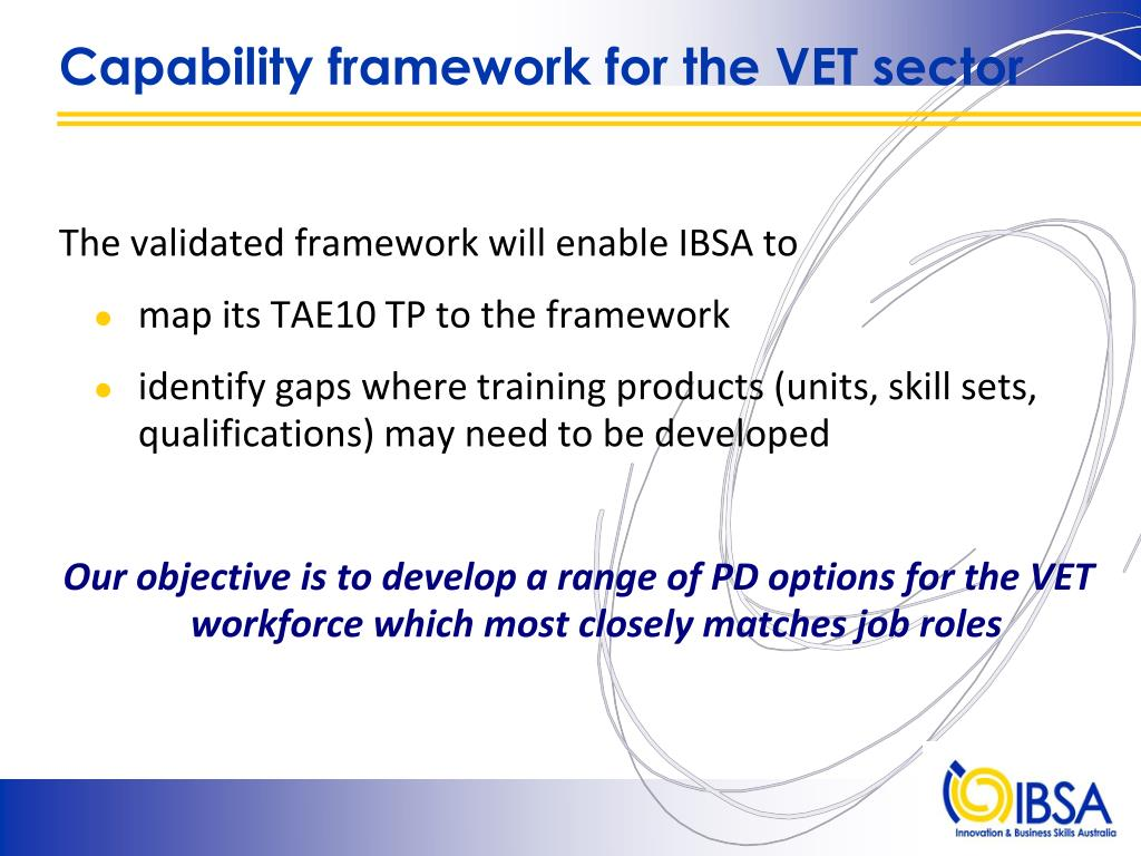 Capability framework for the VET sector