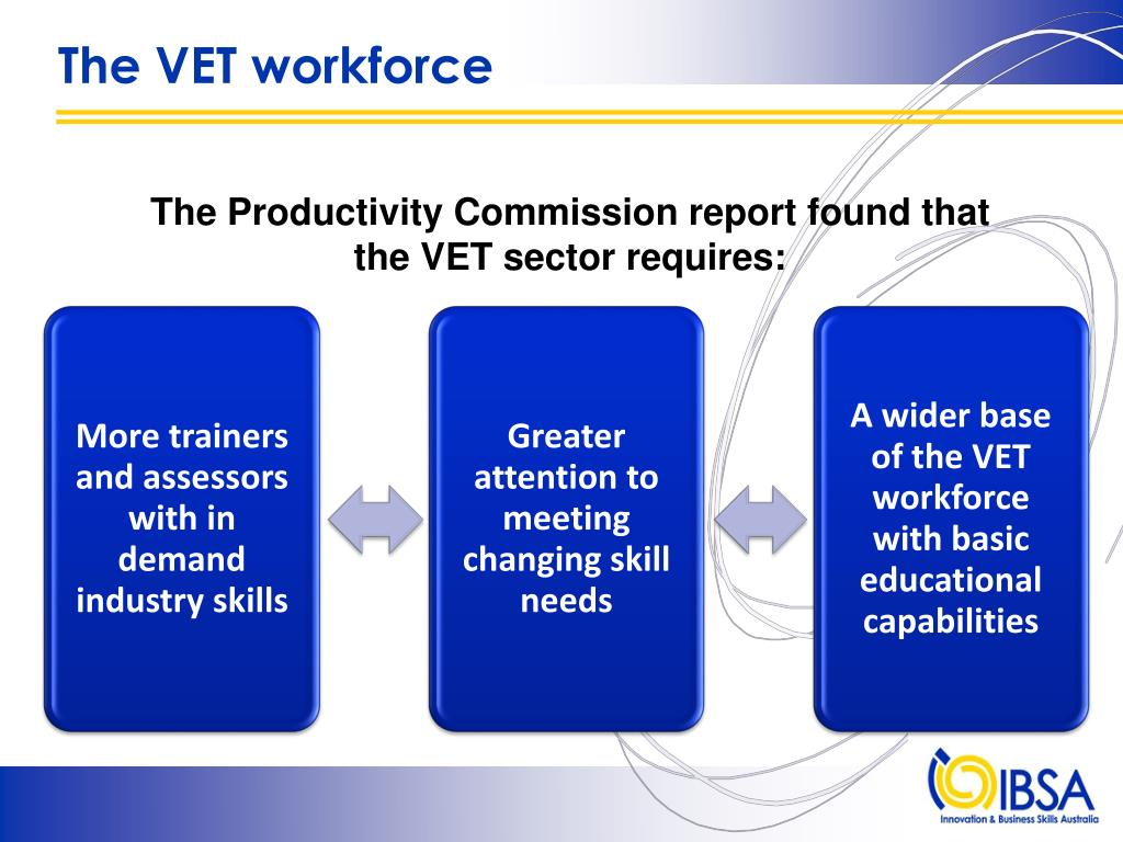 The VET workforce