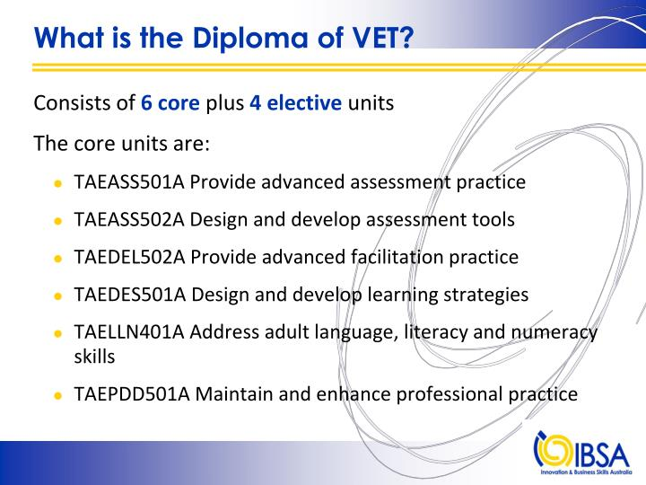 What is the diploma of vet