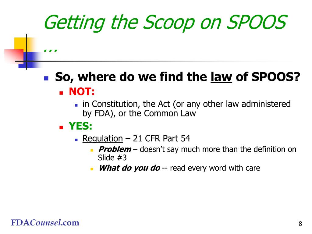 Getting the Scoop on SPOOS …