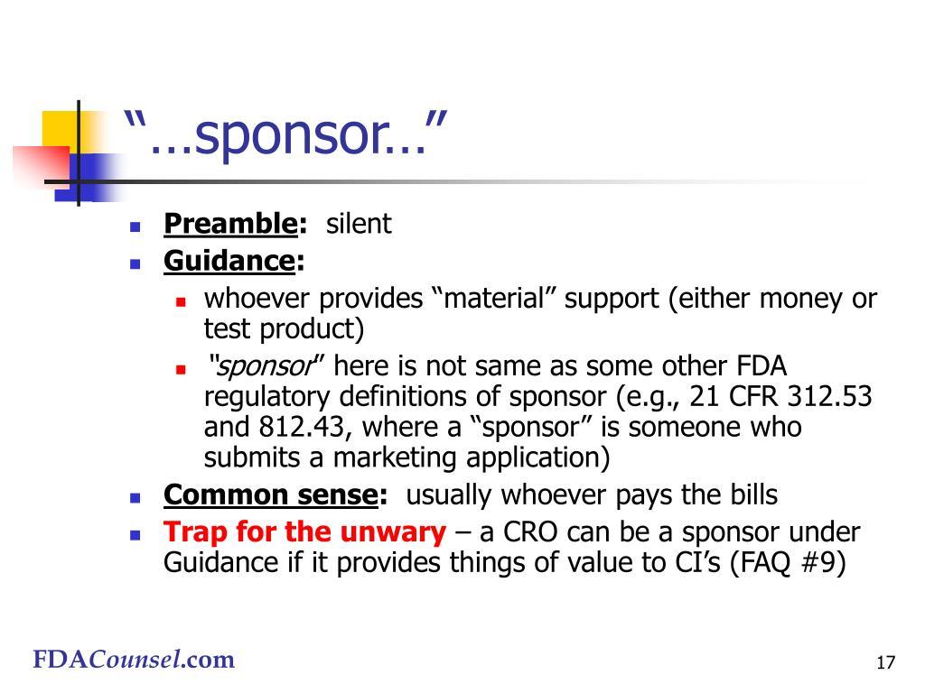 """…sponsor…"""