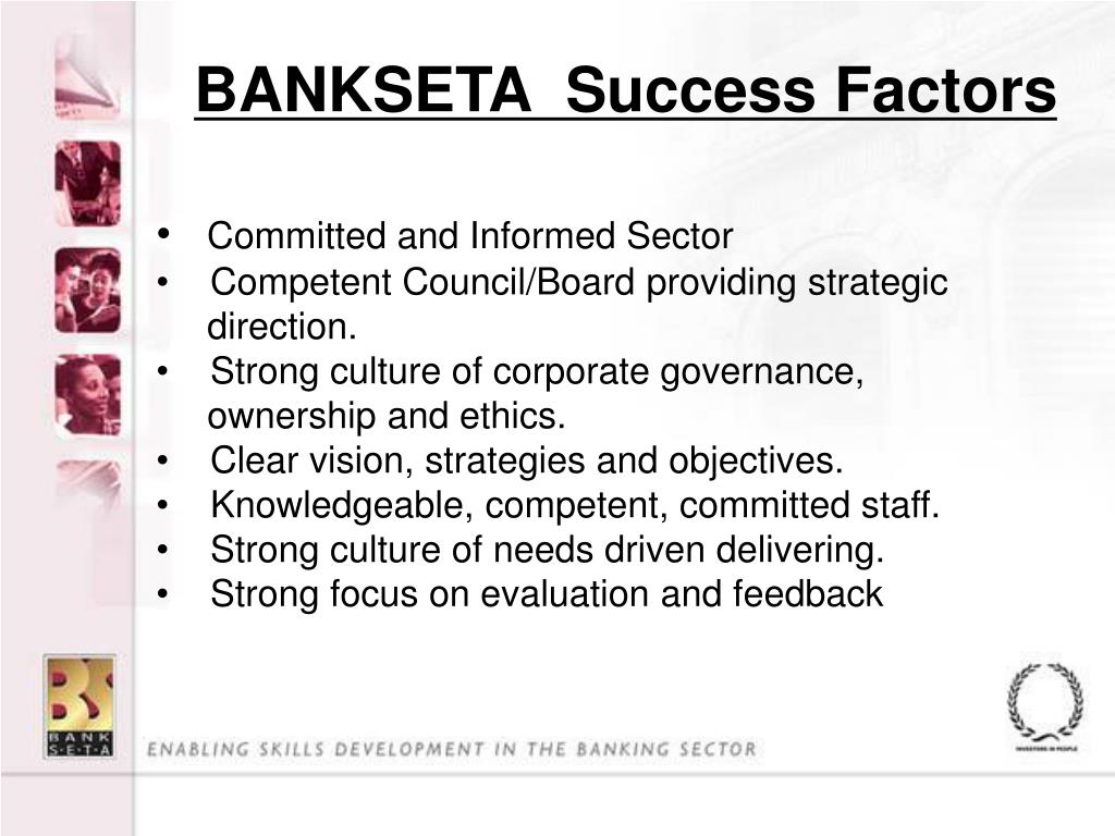 BANKSETA  Success Factors