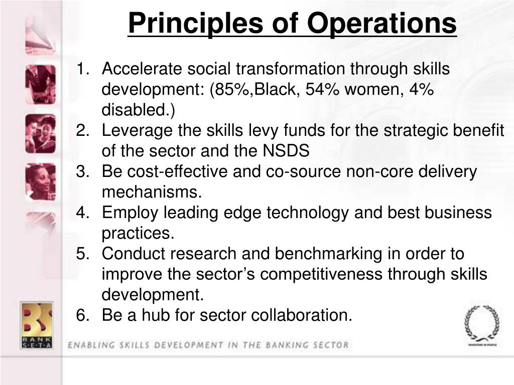 Principles of Operations