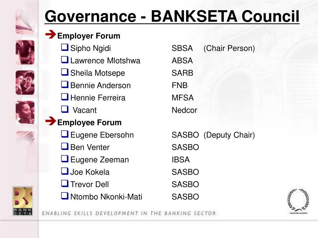 Governance - BANKSETA Council