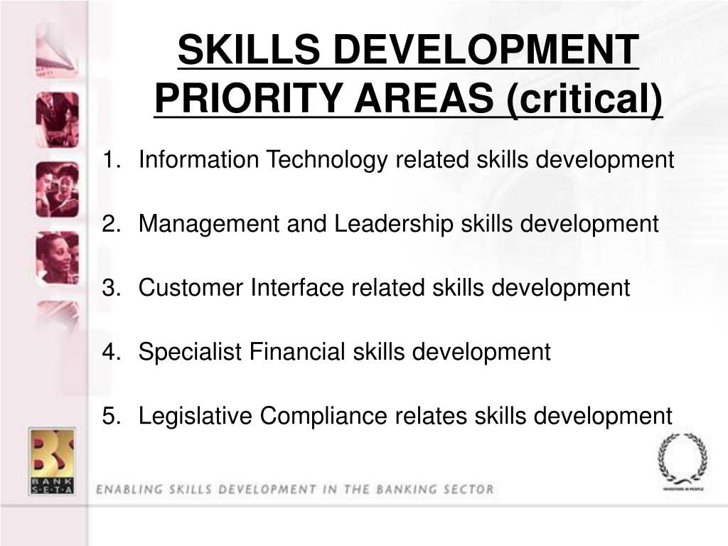 SKILLS DEVELOPMENT PRIORITY AREAS (critical)