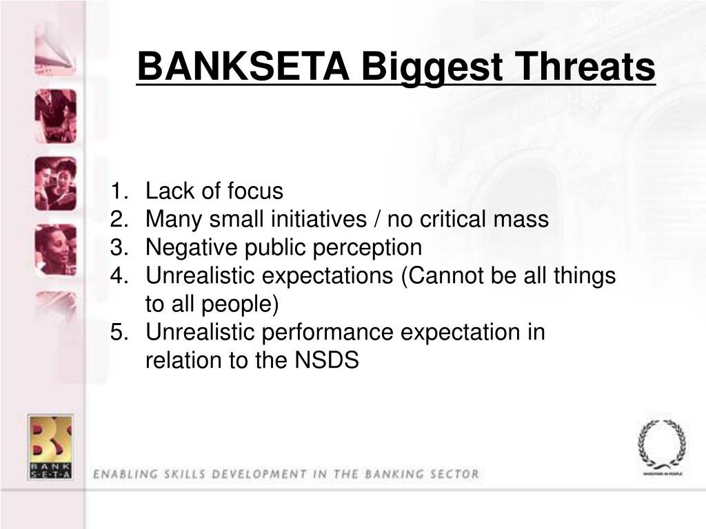BANKSETA Biggest Threats
