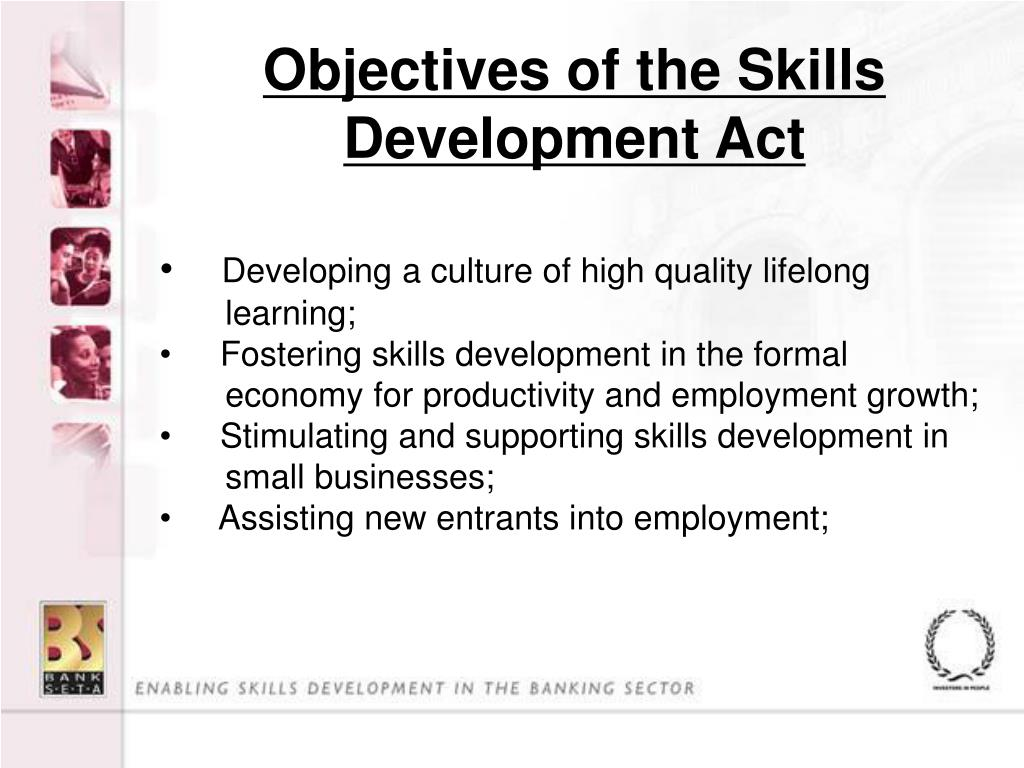 Objectives of the Skills Development Act