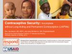 contraceptive security incomplete