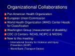 organizational collaborations
