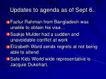 updates to agenda as of sept 6