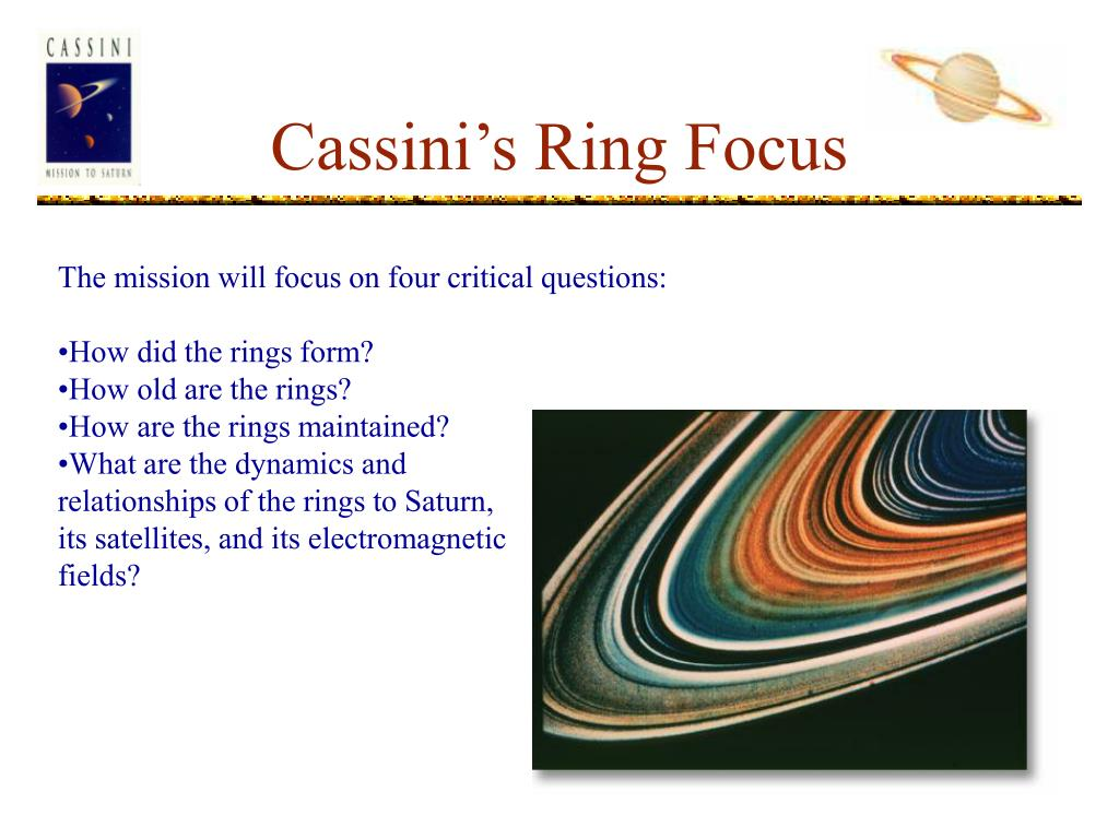 Cassini's Ring Focus