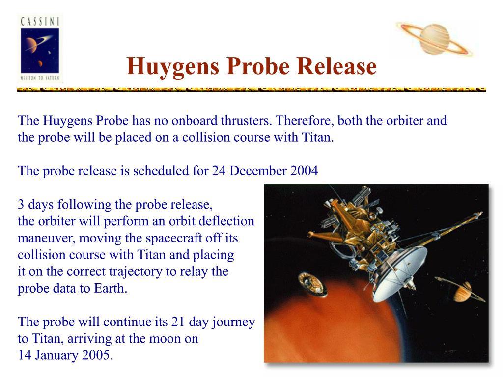 Huygens Probe Release