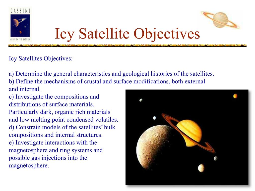 Icy Satellite Objectives
