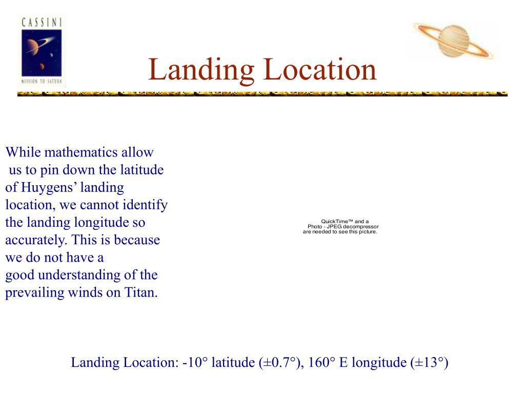 Landing Location