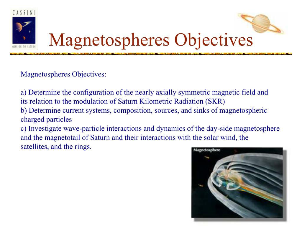 Magnetospheres Objectives